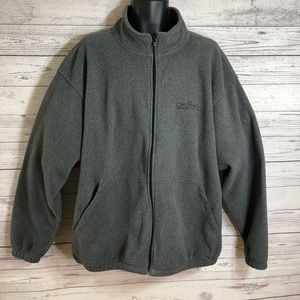 Port Authority Gray Fleece Jacket w/ Logo Mens 2XL